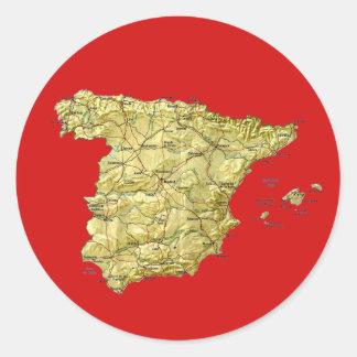 Pegatina del mapa de España