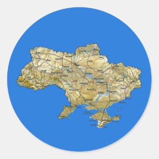 Pegatina del mapa de Ucrania
