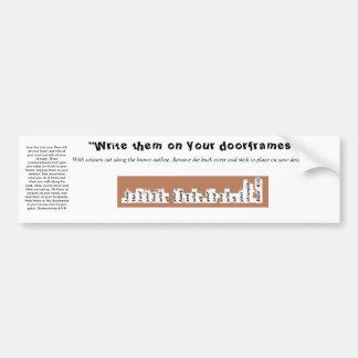 Pegatina del marco de puerta de Deuteronomy 6 de Pegatina Para Coche