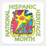 Pegatina del mes del hispana HH de Herencia del la