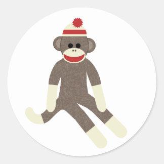 Pegatina del mono del calcetín