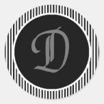 Pegatina del monograma del sello D del sobre del