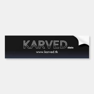 Pegatina del monopatín Bumper TAG de la marca de K Etiqueta De Parachoque