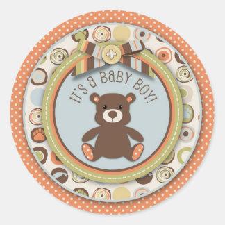 Pegatina del muchacho del oso del oso