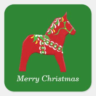 Pegatina del navidad del caballo de Dala
