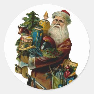 Pegatina del navidad del padre del vintage