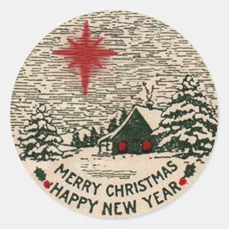 Pegatina del navidad, sello del navidad del