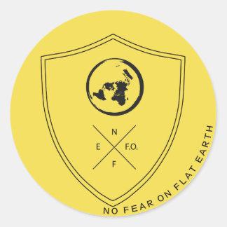 Pegatina del #NOFEARONFLATEARTH TAG1