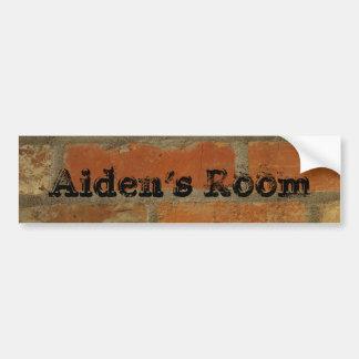 pegatina del nombre de la puerta del dormitorio pegatina para coche