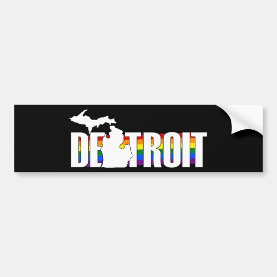 Pegatina del orgullo de Detroit Michigan