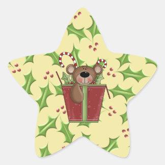 Pegatina del oso del navidad