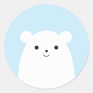 Pegatina del oso polar del Peekaboo