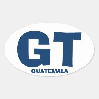 Pegatina del óvalo de Guatemala GT