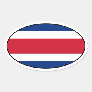Pegatina del óvalo de la bandera de Costa Rica