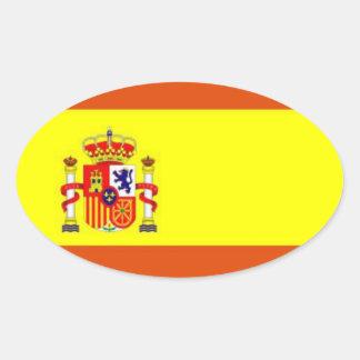 Pegatina del óvalo de la bandera de España