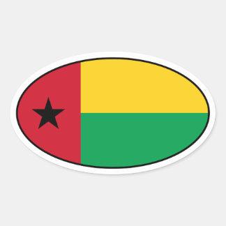 Pegatina del óvalo de la bandera de Guinea-Bissau
