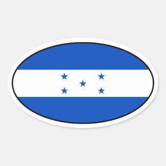 Pegatina del óvalo de la bandera de Honduras