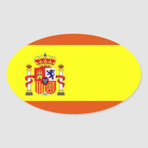 Pegatina del óvalo de la bandera de Spain*