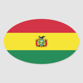 Pegatina del óvalo de la bandera del estado de Bol