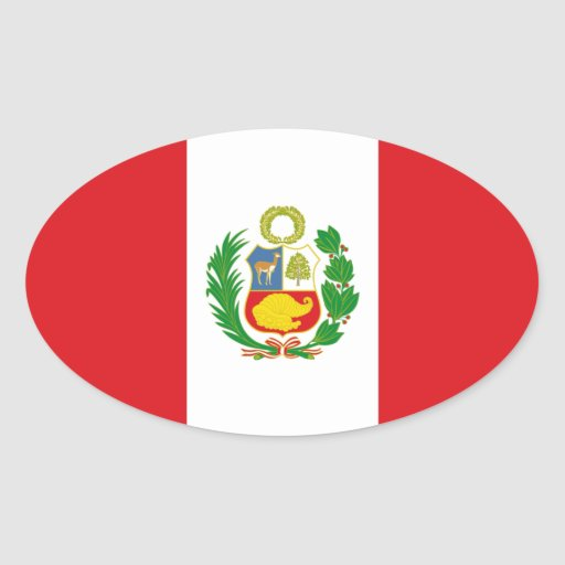 Pegatina del óvalo de la bandera del estado de Per