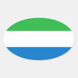 Pegatina del óvalo de la bandera del Sierra Leone