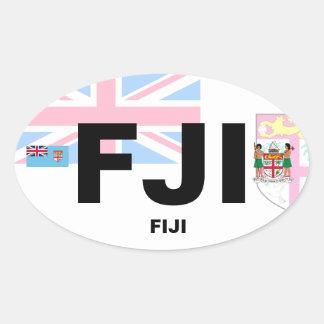 Pegatina del óvalo del Euro-Estilo de Fiji (FJI)