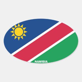 Pegatina del óvalo del Euro-Estilo de Namibia