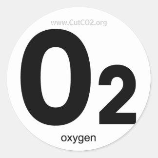Pegatina del oxígeno