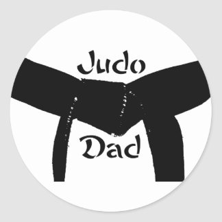 Pegatina del papá del judo de la correa negra de