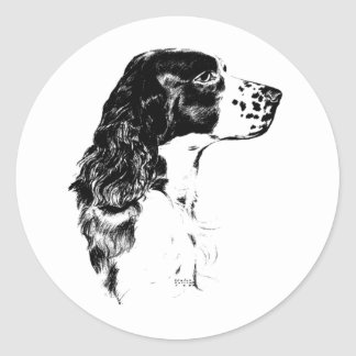 Pegatina del perro del perro de aguas de saltador