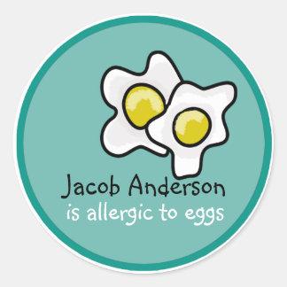 Pegatina del personalizable de la alergia del