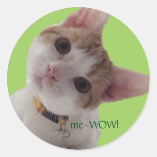 pegatina del personalizable del trabajo del gato