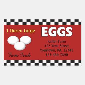 Pegatina del personalizado de los huevos