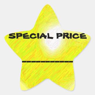 Pegatina del precio especial