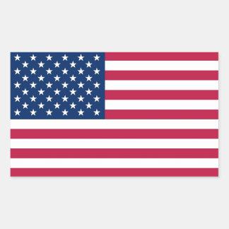 Pegatina del rectángulo con la bandera de los