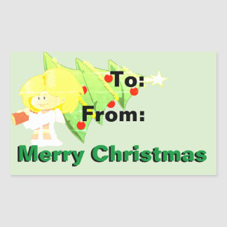 Pegatina del regalo de las Felices Navidad
