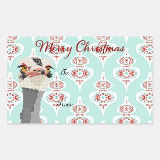 Pegatina del regalo de Navidad del arte de la