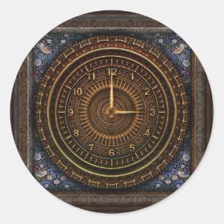 Pegatina del reloj del vintage de Steampunk con