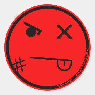 Pegatina del rojo de la cara #1 del desplome de