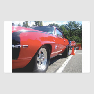 Pegatina del rojo del coche del mustango