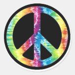 Pegatina del signo de la paz del teñido anudado