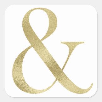 """Pegatina del signo """"&"""" del oro"""
