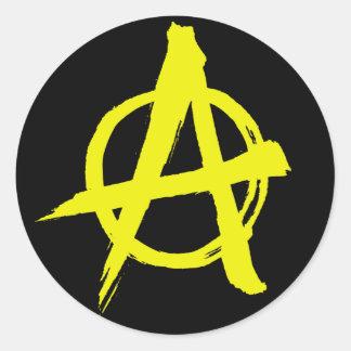 pegatina del símbolo de la anarquía del