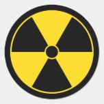 Pegatina del símbolo de la radiación