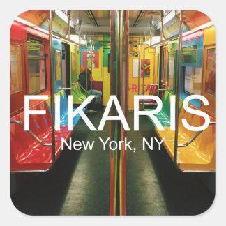Pegatina del subterráneo de NYC