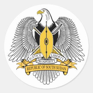 Pegatina del sur del escudo de armas de Sudán