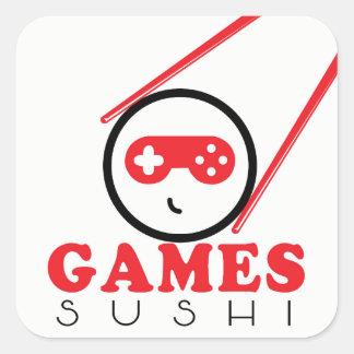 Pegatina del sushi de los juegos