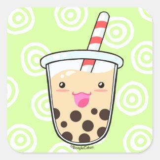 Pegatina del té de la leche de Boba (té de la