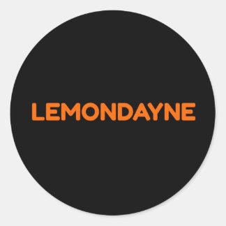 Pegatina del texto del logotipo de Lemondayne