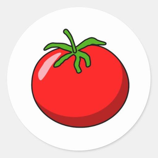 Pegatina del tomate del dibujo animado zazzle - Tomate dessin ...